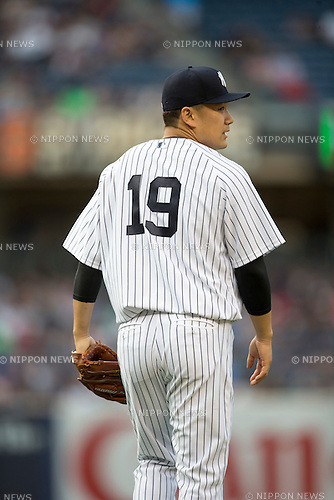 Masahiro Tanaka (Yankees),<br /> JULY 17, 2015 - MLB :<br /> Pitcher Masahiro Tanaka of the New York Yankees during the Major League Baseball game against the Seattle Mariners at Yankee Stadium in the Bronx, New York, United States. (Photo by Thomas Anderson/AFLO) (JAPANESE NEWSPAPER OUT)