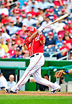 25 April 2010: Washington Nationals' third baseman Ryan Zimmerman makes a pinch hitting plate appearance against the Los Angeles Dodgers at Nationals Park in Washington, DC. The Nationals shut out the Dodgers 1-0 to take the rubber match of their 3-game series. Mandatory Credit: Ed Wolfstein Photo