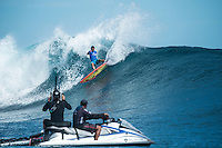 Namotu Island Resort, Nadi, Fiji (Saturday, June 5 2016): Wiggolly Dantas (BRA) - The  2016 Fiji  Pro commenced at Cloudbreak this morning in a bumpy 4'-5' swell. Round one was completed as new longer period swell from the West filled in during the day. Round Two was called off as the  wind swung to the NW making the surface the waves very choppy.  Photo: joliphotos.com