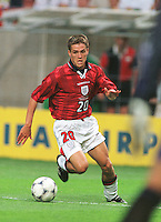 England's Micheal Owen in action vs Columbia in Lens, France during the FIFA World Cup France 98.