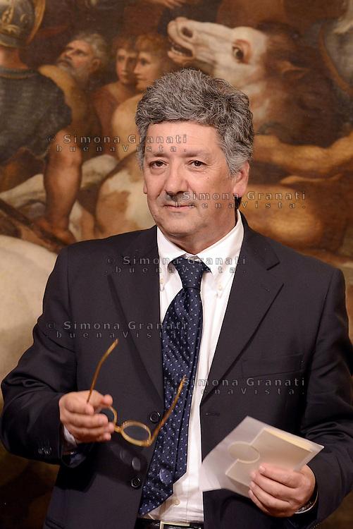 Roma, 3 Mag 2013.Giuramento a Palazzo Chigi dei Sottosegretari e Viceministri del Governo Letta..Domenico Manzione sottosegretario agli interni