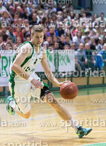 Luka Lapornik of Krka during basketball match between KK Krka and KK Union Olimpija Ljubljana in 3rd Final match of Telemach League - Slovenian Championship 2013/14 on May 27, 2014 in Dvorana Leona Stuklja, Novo mesto, Slovenia. Photo by Vid Ponikvar / Sportida