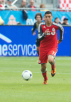 15 September 2012: Toronto FC midfielder Luis Silva #11 in action during an MLS game between the Philadelphia Union and Toronto FC at BMO Field in Toronto, Ontario..The game ended in a 1-1 draw..
