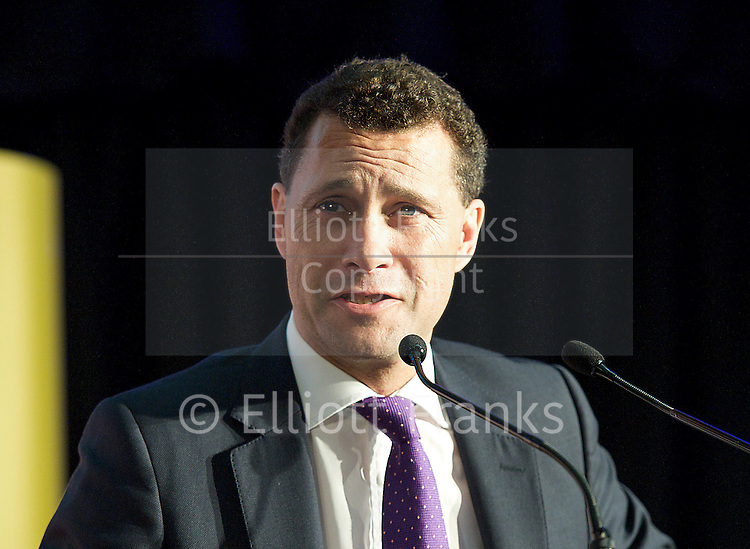 Steven Woolfe <br /> UKIP Economics Spokesman, NEC member &amp; North West Rep.<br /> Pictured during a UKIP rally in Westminster where party leader Nigel Farage addressed party members on race issues. on 7th May 2014