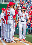 7 April 2016: Washington Nationals pitcher Gio Gonzalez is introduced on the field prior to the Nationals' Home Opening Game against the Miami Marlins at Nationals Park in Washington, DC. The Marlins defeated the Nationals 6-4 in their first meeting of the 2016 MLB season. Mandatory Credit: Ed Wolfstein Photo *** RAW (NEF) Image File Available ***