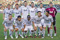 CARSON, CA - July 7, 2012: Vancouver Whitecaps FC starting lineup for the Chivas USA vs Vancouver Whitecaps FC match at the Home Depot Center in Carson, California. Final score Vancouver Whitecaps FC 0, Chivas USA 0.