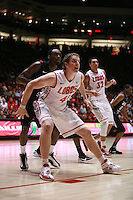 18 January 2012:  New Mexico Lobos Cameron Bairstow #41 holds the lane and looks for the ball. San Diego State Aztecs defeated the New Mexico Lobos Lobos 75 - 70 at The Pit in Albuquerque, NM.