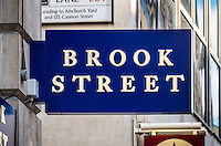 Brook Street, Recruitment Specialists Sign - Aug 2013