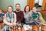 Enjoying the Tenacity School of Performing Arts Table Quiz fundraiser at Na Gaeil Club on Sunday were Caoilfhionn Foley, Conor Foley, Deirdre Ferris and  Ainle Foley