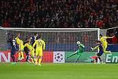 17.02.2015. Paris, France. Champions League football. Paris St Germain versus Chelsea.  Keeper Salvatore Sirigu ( PSG) makes the save from John Terry (Chelsea)