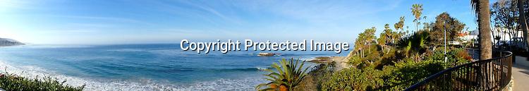 Panaroma of Laguna Beach Stock Photo