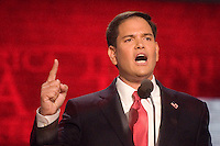 TAMPA, FL - August 30, 2012 - Remarks by U.S. Senator Marco Rubio (FL) on the final night of the 2012 Republican National Convention.