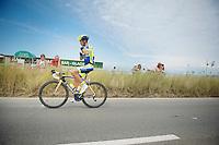 Alberto Contador (ESP/Tinkoff-Saxo) to the start<br /> <br /> 2014 Tour de France<br /> stage 4: Le Touquet-Paris-Plage/Lille M&eacute;tropole (163km)