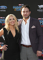 """HOLLYWOOD, CA - April 19: Emily Osment, Jonathan Sadowski, At Premiere Of Disney And Marvel's """"Guardians Of The Galaxy Vol. 2"""" At The Dolby Theatre  In California on April 19, 2017. Credit: FS/MediaPunch"""