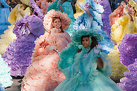 NEW YORK - NOVEMBER 24:  The Mobile Azalea Trail Maids perform during the annual Macy's Thanksgiving Day Parade on Thursday, November 24, 2011.
