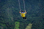 Banos, Ecuador, Adventure Destination, La Casa Del Arbol, Swing At The End Of The World, Swing Attached To Treehouse, Treehouse Used For Monitoring Tungurahua Volcano