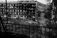 Gori, Georgia, August 20, 2008.The Russian aviation and artillery has badly damaged a group of appartment buildings at the edge of the city next to a georgian Army base. Very poor to begin with, many inhabitants have lost everything they had..