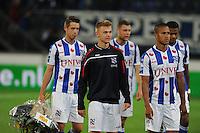 VOETBAL: HEERENVEEN: Abe Lenstra stadion 30-08-2014, SC Heerenveen - FC Utrecht uitslag 3-1, Mark Uth, Daley Sinkgraven, Luciano Slagveer, ©foto Martin de Jong