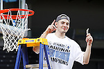 24 MAR 2012:  John Allen (20) of Western Washington University celebrates after the game against the University of Montevallo during the Division II Men's Basketball Championship held at the Bank of Kentucky Center in Highland Heights, KY. Western Washington won the national title 72-65.  Joe Robbins/NCAA Photos