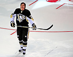 24 January 2009: Pittsburgh Penguins center Evgeni Malkin wins the Shooting Accuracy portion of the NHL SuperSkills Competition, part of the All-Star Weekend at the Bell Centre in Montreal, Quebec, Canada. ***** Editorial Sales Only ***** Mandatory Photo Credit: Ed Wolfstein Photo