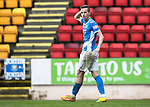 St Johnstone v Kilmarnock&hellip;15.10.16.. McDiarmid Park   SPFL<br />Steven MacLean reacts to his disallowed goal<br />Picture by Graeme Hart.<br />Copyright Perthshire Picture Agency<br />Tel: 01738 623350  Mobile: 07990 594431
