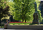 May, 8, 2013; Spring on campus. Photo by Barbara Johnston/University of Notre Dame