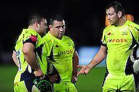 Sale Sharks players look dejected after the match. Aviva Premiership match, between Harlequins and Sale Sharks on January 7, 2017 at the Twickenham Stoop in London, England. Photo by: Patrick Khachfe / JMP