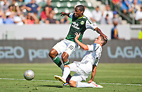 CARSON, California - June 17, 2012: The LA Galaxy  defeated the Portland Timbers 1-0 during a Major League Soccer (MLS) game at Home Depot Center stadium.