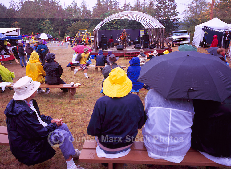 """Folk Singer """"Valdy"""" on Stage at the Ganges Fall Fair, on Saltspring Island, in the Southern Gulf Islands of British Columbia, Canada"""