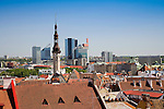 Old Medieval Tallinn Skyline With Rooftops, View From Kohtuotsa Platform, Estonia