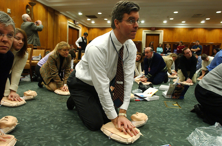 Matthew McGhie from the office of Legislative Council, attends a CPR training programMatthew McGhie from the office of Legislative Council, attends a CPR training program sponsored  by the American Heart Association using the new CPR Anytime for Family and Friends program which teaches the basics of CPR in under an hour.  . .