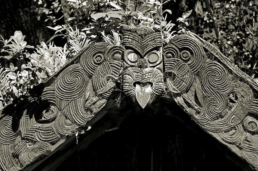 Maori Carving, Buried Village, Rotorua