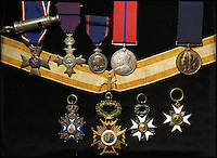 Medals of the original British spy 'M'.