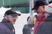 "John ""Jocko"" Connolly (Boston Herald), Larry Venis (BU - Assistant Director-Athletic Training Services) - The Boston University Terriers practiced on the rink at Fenway Park on Friday, January 6, 2017.The Boston University Terriers practiced on the rink at Fenway Park on Friday, January 6, 2017."