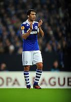 FUSSBALL   EUROPA LEAGUE   SAISON 2011/2012  ACHTELFINALE FC Schalke 04 - Twente Enschede                         15.03.2012 Raul (FC Schalke 04)