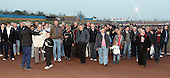The Lakeside fans are given a tour of the track by track manager Gerald Richter - Lakeside Hammers Open Evening at the Arena Essex Raceway, Pufleet - 23/03/12 - MANDATORY CREDIT: Rob Newell/TGSPHOTO - Self billing applies where appropriate - 0845 094 6026 - contact@tgsphoto.co.uk - NO UNPAID USE..