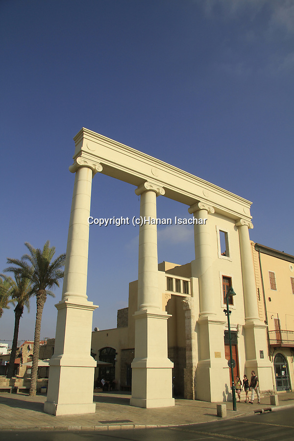 Israel, Tel Aviv-Yafo, the Saraya building in Jaffa