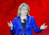 Governor Mary Fallin (Republican of Oklahoma) makes remarks at the 2012 Republican National Convention in Tampa Bay, Florida on Tuesday, August 28, 2012.  .Credit: Ron Sachs / CNP.(RESTRICTION: NO New York or New Jersey Newspapers or newspapers within a 75 mile radius of New York City)
