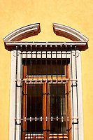 Window of Spanish colonial window in the city of San Luis de Potosi, Mexico