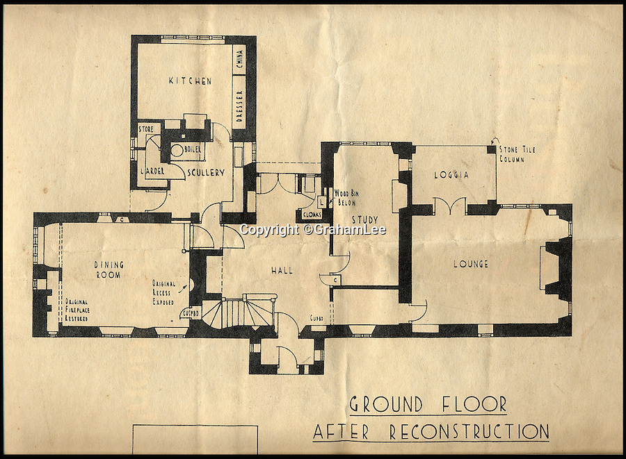 BNPS.co.uk (01202 558833)<br /> Pic: GrahamLee/BNPS<br /> <br /> The original plans for the house.<br /> <br /> A stunning 16th century property once described as 'the perfect house for Christmas' by the Ideal Home magazine has gone on sale for almost &pound;2 million.<br /> <br /> Grade II listed Sevington House in Wiltshire featured on the front cover of the December 1939 edition of the long-established lifestyle publication.<br /> <br /> With the country at war, the magazine's editors had been looking for a special property to feature to bring festive cheer to their readers.