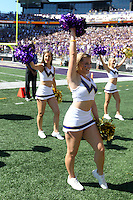 SEP 12, 2015:  University of Washington cheerleader Jordan French vs Sacramento State at Husky Stadium in Seattle, Washington. Washington won over Sacramento State.