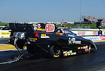 May 18, 2012; Topeka, KS, USA: NHRA funny car driver Jack Wyatt during qualifying for the Summer Nationals at Heartland Park Topeka. Mandatory Credit: Mark J. Rebilas-