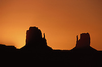 Rocks Formations at Sunset, Mitten Buttes, Monument Valley, Navajo Nation, Arizona, Utah