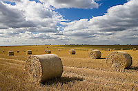 Straw bales, Swinbrook, Cotswolds, United Kingdom