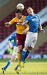 Motherwell v St Johnstone...31.01.15    SPFL<br /> John Sutton and Tam Scobbie<br /> Picture by Graeme Hart.<br /> Copyright Perthshire Picture Agency<br /> Tel: 01738 623350  Mobile: 07990 594431