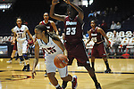 "Ole Miss' Diara Moore (10) vs. UMass' Rashida Timbilla (23) at the C.M. ""Tad"" Smith Coliseum in Oxford, Miss. on Saturday, December 8, 2012."