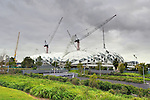 Melbourne Rectangular Stadium using Orrcon Steel.Melbourne &amp; Olympic Park Precinct  .Melbourne, Victoria .10th of March 2010.(C) Joel Strickland Photographics.Use information: This image is intended for Editorial use only (e.g. news or commentary, print or electronic). Any commercial or promotional use requires additional clearance.
