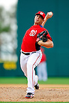 1 March 2011: Washington Nationals' pitcher Cole Kimball on the mound during a Spring Training game against the New York Mets at Space Coast Stadium in Viera, Florida. The Nationals defeated the Mets 5-3 in Grapefruit League action. Mandatory Credit: Ed Wolfstein Photo