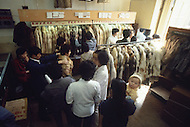 """October 1984. Near Beijing, the huge """"Friendship"""" factory employed 2.000 workers to produce woman's clothes."""