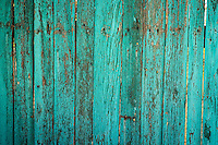 Weathered Turquoise Fence - Arizona